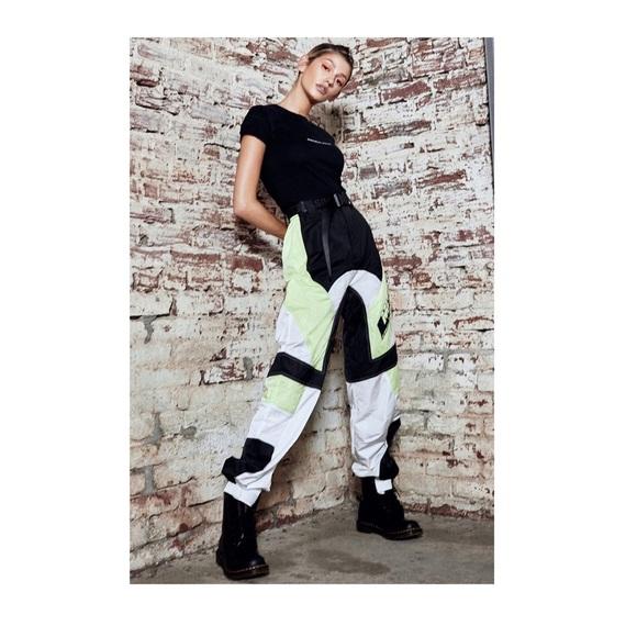 15ac79b5 Mistress Rocks Pants | Spirit Lime Green Biker Joggers | Poshmark